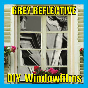 GREY-SOLAR-REFLECTIVE-ONE-WAY-MIRROR-WINDOW-FILM-TINT