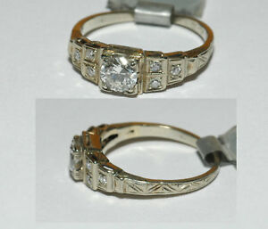 Antique-EDWARDIAN-style-Cut-0-50ct-Natural-Untreated-G-SI1-Diamond-Ring