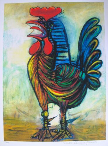 Pablo Picasso THE ROOSTER Estate Signed /& Stamped Limited Edition Large Giclee