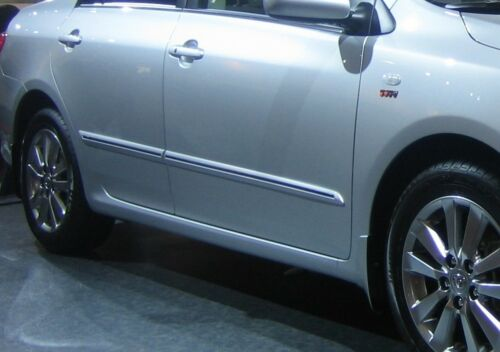 SCION COROLLA iM 2016-on outside door body side molding trim-1F7 silver painted
