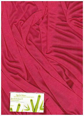 Bamboo Cotton Jersey Knit Fabric Eco-Friendly  Luxuriuos t-shirt material Coral