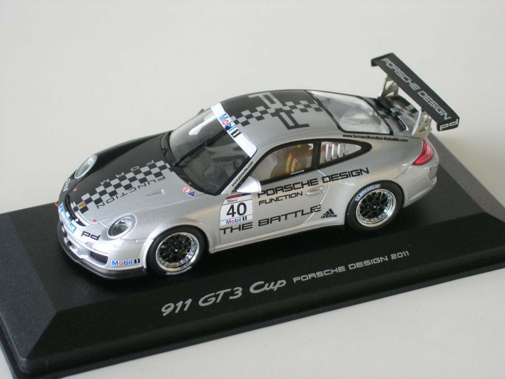 PORSCHE PORSCHE PORSCHE 911 997 gt3 Cup Design Presentation 2011  40 The Battle Minichamps 1 43 efe923