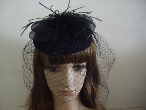 Wedding-Feather-Net-Hair-Fascinator-Clip-Lady-Floss-Hat