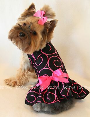 S New Hot Pink Swirls Dog dress clothes pet Small PC Dog®