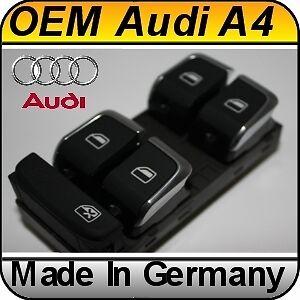 OEM Audi A4 S4 B6 B7 Chrome Master Window Switch NEW