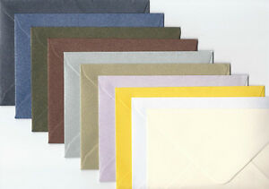 50-C6-QUALITY-SHIMMER-ENVELOPES-CHOICE-OF-10-COLOURS-114mm-x-162mm-4-4-x-6-3-034