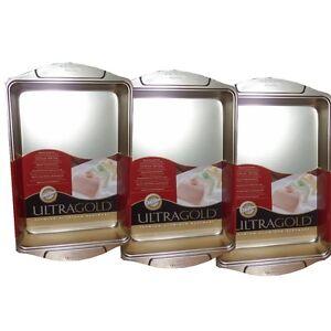 3-Pack-2105-6720-Wilton-Ultra-Gold-Premium-Aluminum-9-x-13-x-2-Sheet-Cake-Pans