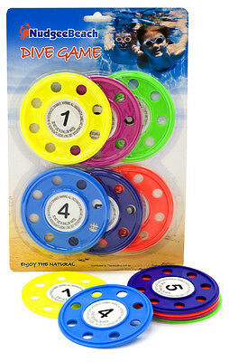 Dive sticks rings DISCS Diving Game Swimming Pool Toy learn to swim 6-piece 7181