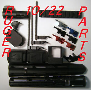 Ruger-10-22-Accessories-Parts-Magazine-Release-Charging-Handle-Hand-Guard-SR-22