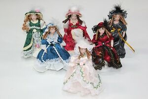 NEW-Porcelain-Dolls-House-Doll-Victorian-Lady-Girl-amp-Stand-1-12th-Style-Choice