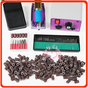 PRO-Electric-Drill-Kit-36-Bits-Acrylic-Tool-Sanding-Bands-Manicure-Nail-Art-501