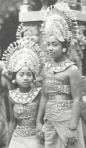 Bali rppc 2 Djanger Dancers Costume Indonesia 20s