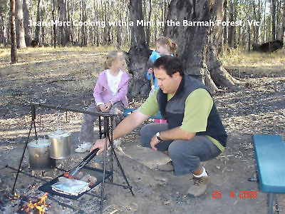 BBQ for CAMPFIRE COOKING and CAMPING mini bush cooking