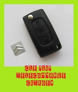 coque cle telecommande voiture plip logo citroen c2 c3 c4 c5 3 boutons ebay. Black Bedroom Furniture Sets. Home Design Ideas