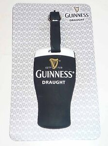 Malaysia-GUINNESS-Draught-PINT-GLASS-Rubber-LUGGAGE-TAG-Limited-Edition