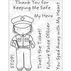 """My Favorite Things Pure Innocence Clear Stamps 3""""X4"""" Sheet Policewoman"""