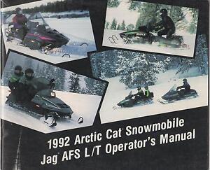 CAT ARCTIC OPERATOR MANUAL T L JAG AFS SNOWMOBILE 1992 qHUZ5