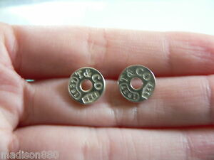 Itm Tiffany Co Sterling Silver 1837 Circle Earrings Studs Rare Classic Pretty  331491595029 Tiffany Earrings Sterling