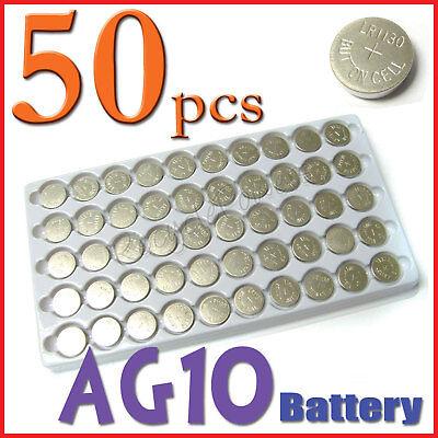 50 x AG10 SR54 LR54 189 LR1130 389 Alkaline Battery