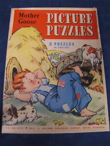 Vintage-Whitman-Publishing-Mother-Goose-Puzzle-Box