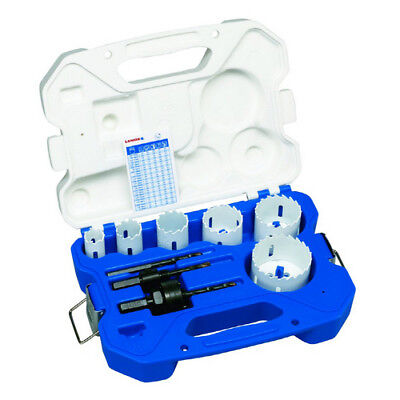 Lenox 30295-600CTL 9pc Electrician Carbide-Tipped Hole Saw Kit