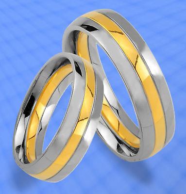 Methodisch 2 Ringe Trauringe Eheringe Gold Plated & Gravur Je26 VerrüCkter Preis