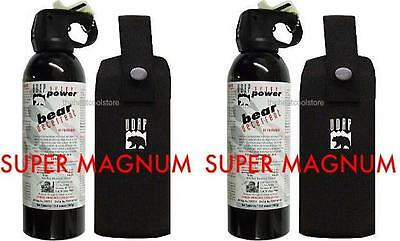 2 UDAP Super Magnum Bear Spray Repellant w/ Holster