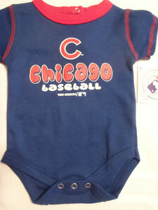 New Chicago Cubs one-piece  sizes 0//3M 3//6M  6//9M  white and blue