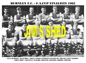 BURNLEY-F-C-TEAM-PRINT-1962-F-A-CUP-FINALISTS