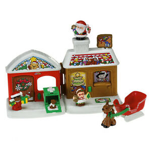 Fisher Price Little People A Visit From Santa Christmas Reindeer ...