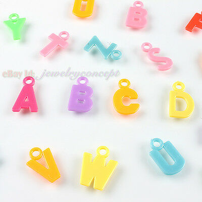 400 New Letters Charms Plastic Pendant Free P&P 140222