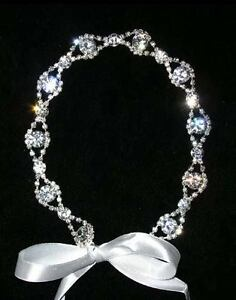 Rhinestone-Studded-Headband-with-3-interchangeable-ribbons-White-Ivory-Black