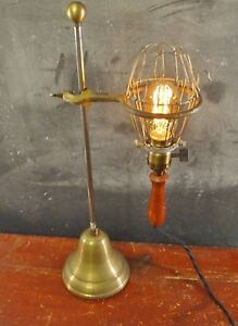 Vintage-Antique-Industrial-Trouble-Light-with-Stand-Cage-Pendant-Lamp-Lab