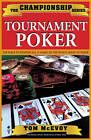 Championship Tournament Poker by Tom McEvoy (Paperback, 2004)