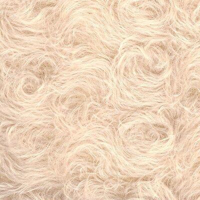 Schulte Curly-Sparse Mohair - beige gelockt  - 25,5 x 48 cm