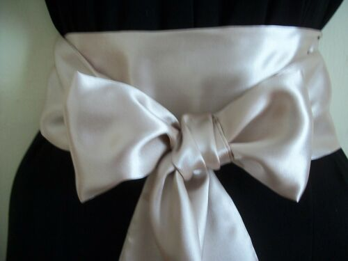 """3.5x60"""" CHAMPAGNE SATIN SASH BELT SELF TIE BOW for PARTY DRESS WEDDING EVENING"""