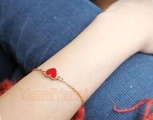 Lovely-Sweet-Heart-Bracelet-Pendant-Women-Girls-Gift-Accessory-Red