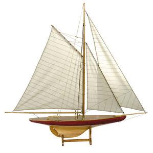 "1895 Defender Pond Yacht 37"" Sail Wooden Model Sailboat ..."