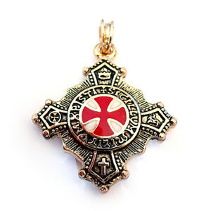 Templar knights 24ct pendant amulet antique larp jewelr ebay image is loading templar knights 24ct pendant amulet antique larp jewelr mozeypictures Image collections