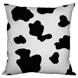 BLACK-WHITE-COW-PRINT-DESIGN-18-034-X-18-034-CUSHION-GREAT-GIFT-IDEA-L-amp-S-PRINTS
