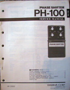 Yamaha FL-100 Flanger Guitar Pedal Original Service Manual Schematics Etc