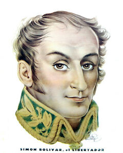 1584-Simon-Bolivar-el-Libertador-Vintage-POSTER-Patriotic-Decor-Art-Venezuela