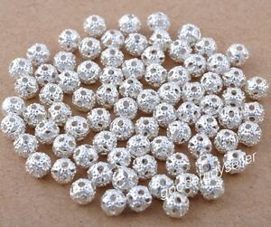 400-pcs-Silver-Plated-loose-Spacers-Beads-Charms-Findings-4mm-free-shipping