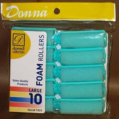 """Wholesale Lot 60 Donna  Large 1"""" Salon Quality Foam Hair Rollers/Curlers NEW"""