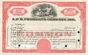 A-P-W-PRODUCTS-gt-Allied-paper-red-stock-certificate-share