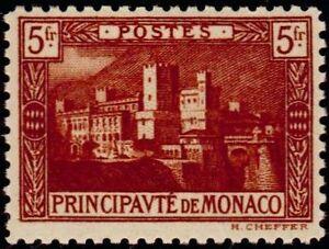 MONACO-N-62-034-PALAIS-PRINCIER-5F-BRUN-ROUGE-034-NEUF-X-TB