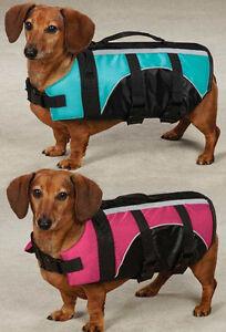 DOG-PET-PRESERVER-LIFE-JACKET-SAFETY-VEST-PINK-BLUE-SWIM-WATER-Guardian-Gear