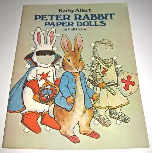 Peter Rabbit Paper Dolls in Full Color by Kathy Allert (1981) *UNCUT*