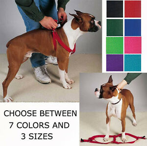 STEP-IN-DOG-HARNESS-ADJUSTABLE-NYLON-HARNESSES-EASY-TO-USE-WALKING-NO-CHOKE-PET