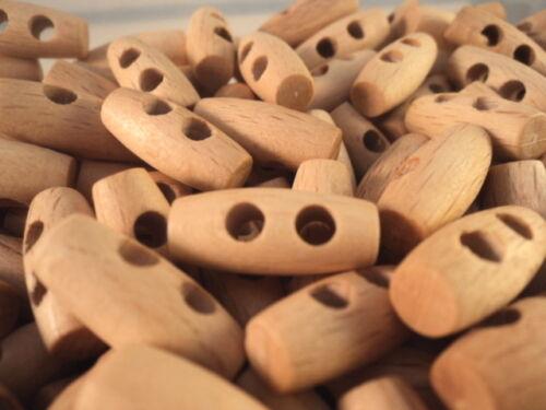 ! 2 trous baby toggle italien Boutons 20mm-W5 choisissez votre couleur bois hêtre!